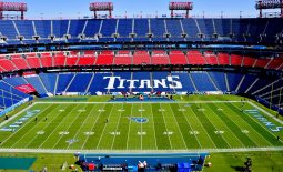 Oct 20, 2019; Nashville, TN, USA; A general view inside Nissan Stadium prior to the game between the Tennessee Titans and the Los Angeles Chargers. Mandatory Credit: Jim Brown-USA TODAY Sports