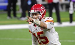 Dec 20, 2020; New Orleans, Louisiana, USA; Kansas City Chiefs quarterback Patrick Mahomes (15) at the line against the New Orleans Saints during the second half at the Mercedes-Benz Superdome. Mandatory Credit: Derick E. Hingle-USA TODAY Sports