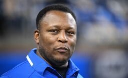 Nov 28, 2019; Detroit, MI, USA; Detroit Lions former player Barry Sanders before the game against the Chicago Bears at Ford Field. Mandatory Credit: Tim Fuller-USA TODAY Sports