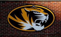 Sep 26, 2020; Columbia, Missouri, USA; A general view of a Missouri Tigers logo on the retaining wall before the game against the Alabama Crimson Tide at Faurot Field at Memorial Stadium. Mandatory Credit: Denny Medley-USA TODAY Sports