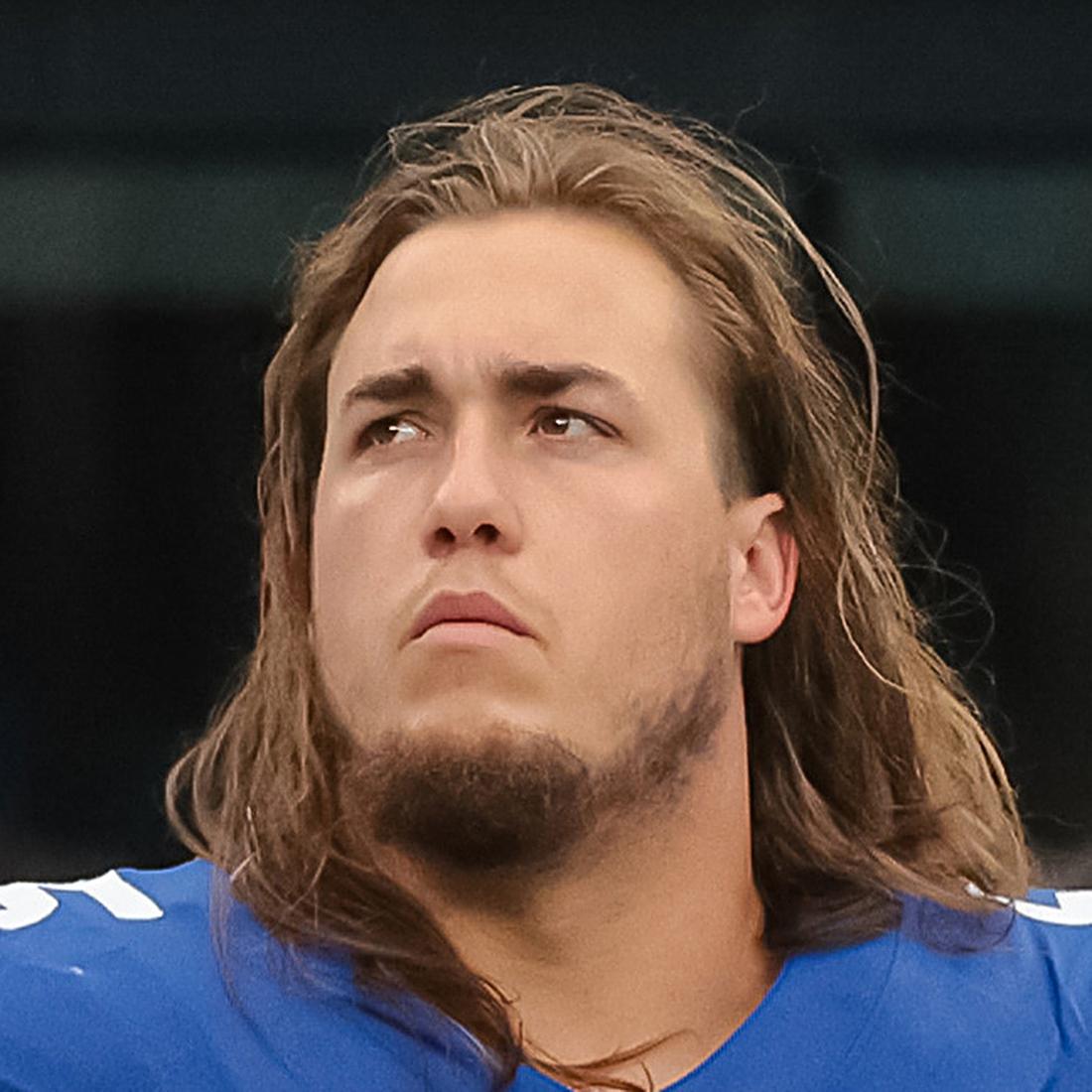 New York Giants NFL center Nick Gates